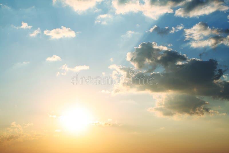 Fundo do por do sol fotos de stock