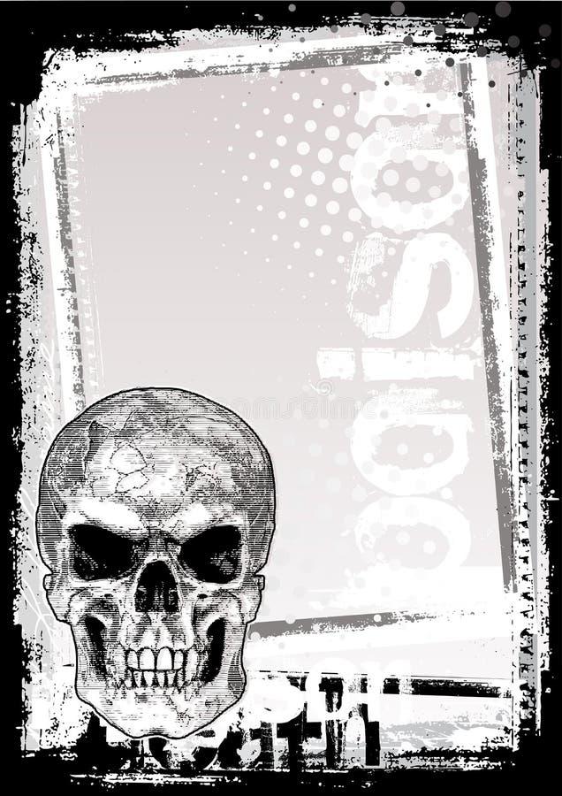 Fundo do poster da morte ilustração royalty free