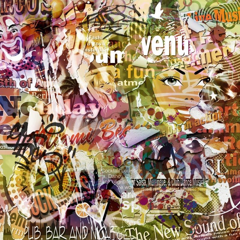 Fundo do poster de Grunge ilustração do vetor