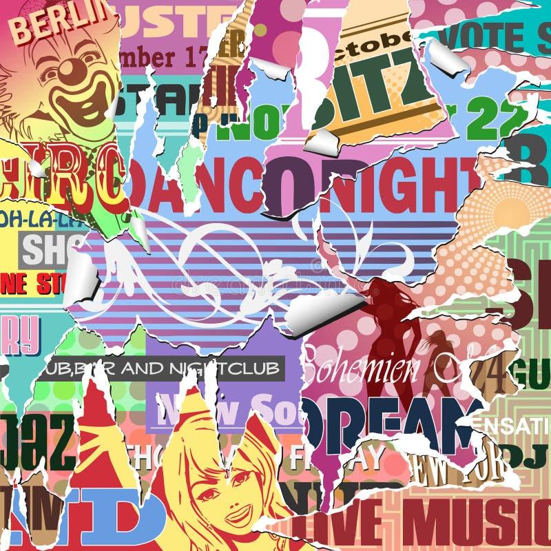 Fundo do poster de Grunge ilustração stock