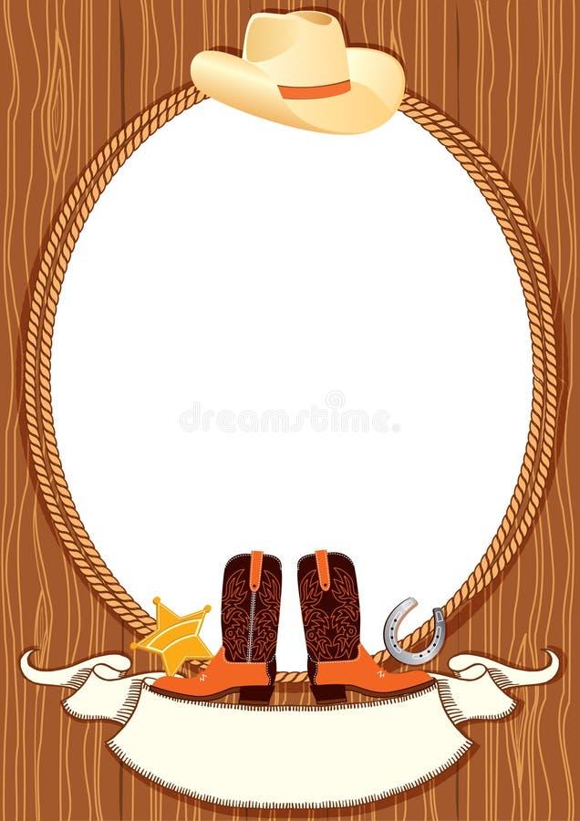 Fundo do poster do cowboy ilustração do vetor