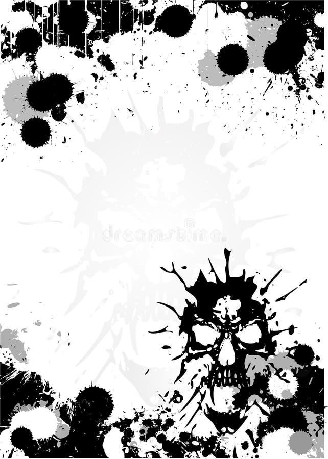 Fundo do poster do crânio ilustração royalty free