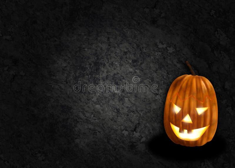 Fundo do preto da abóbora de Halloween ilustração do vetor