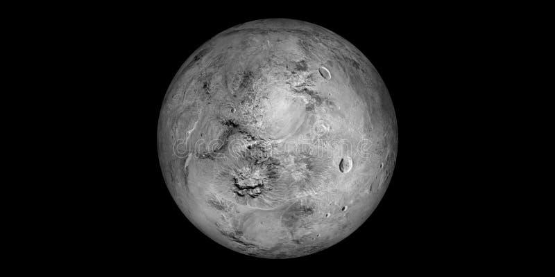 Fundo do preto do sistema solar do planeta do darf de Haumea fotos de stock royalty free