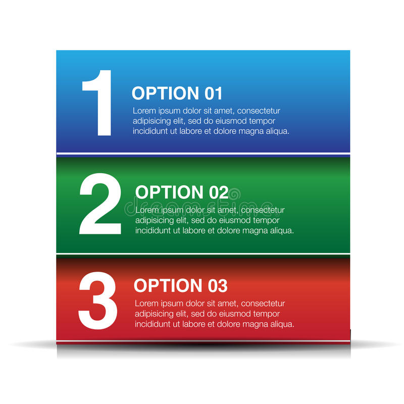 Fundo do progresso do botão do vetor - uns, dois, três ilustração do vetor