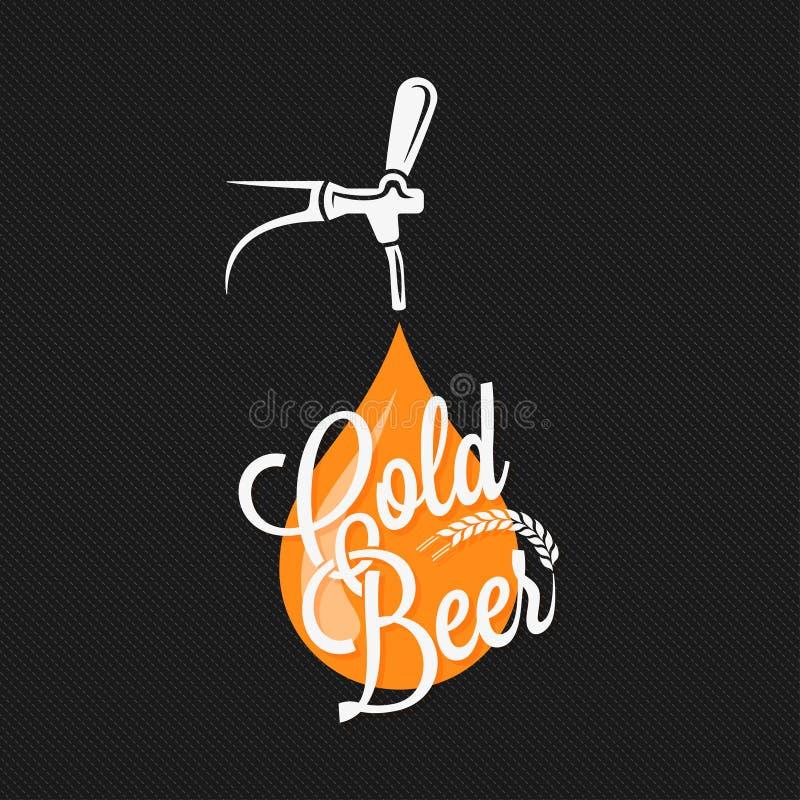 Fundo do projeto da etiqueta da torneira da cerveja ilustração royalty free