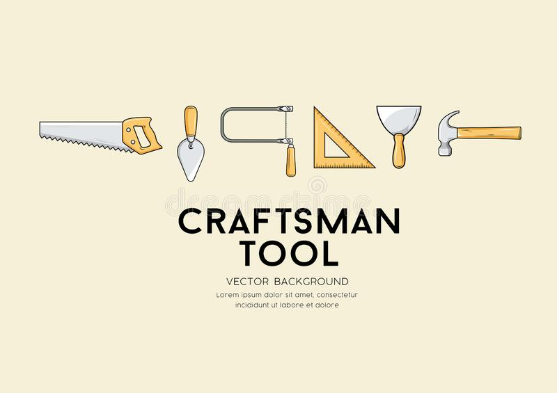 Fundo do projeto da ferramenta do artesão do vetor ilustração do vetor