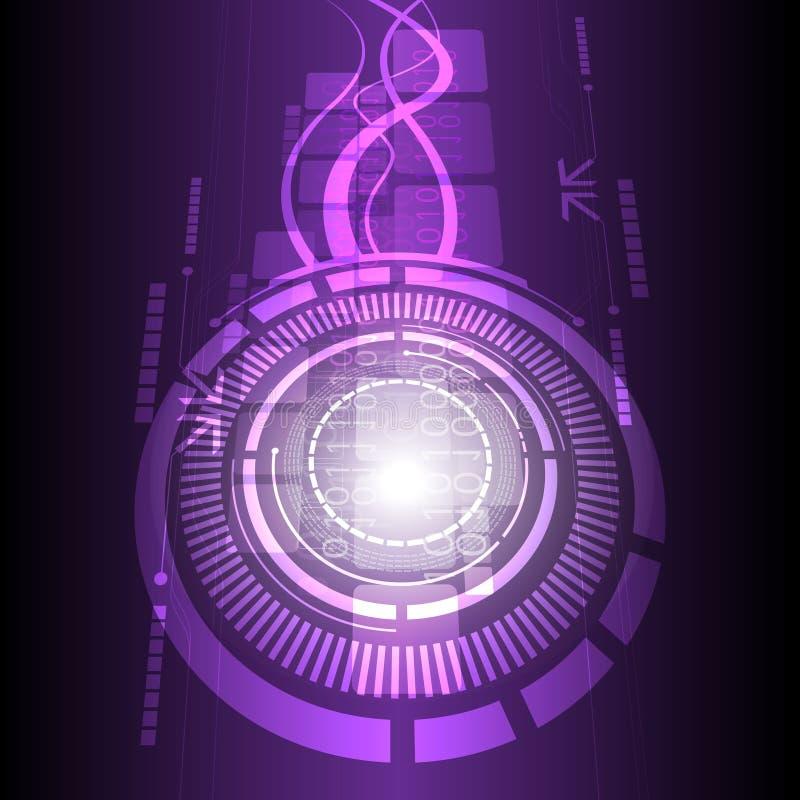Fundo do projeto da tecnologia ilustração do vetor