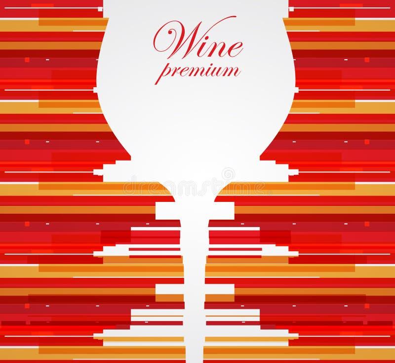 Fundo do projeto de cartão do menu do vinho ilustração stock