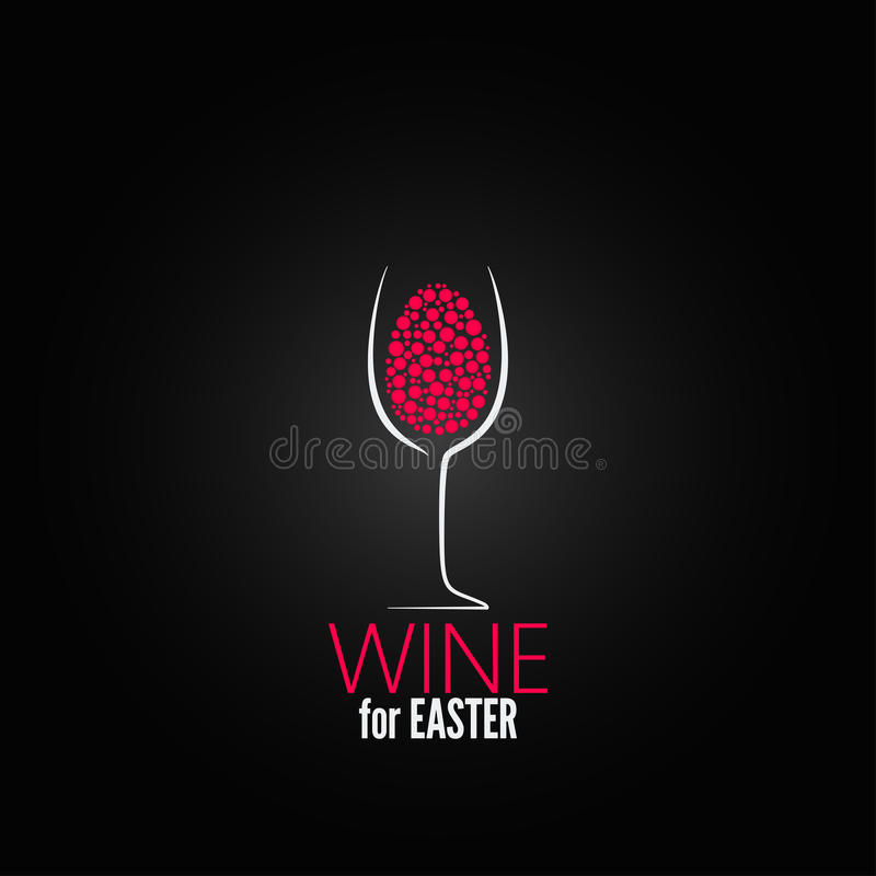 Fundo do projeto de easter do vinho ilustração do vetor