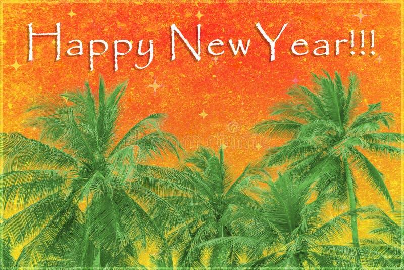 Fundo do projeto do ano novo feliz ilustração royalty free