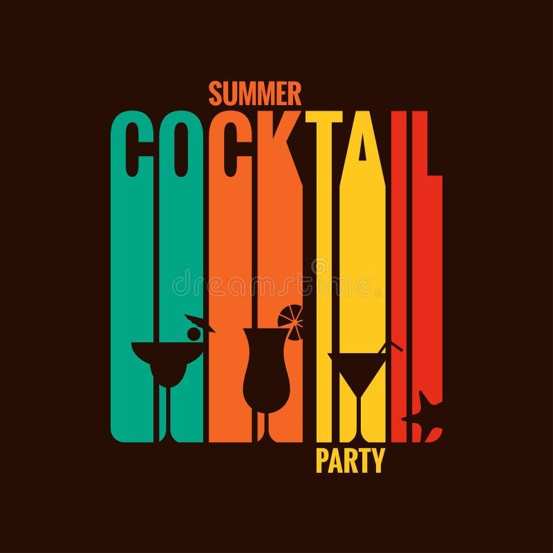 Fundo do projeto do menu do cocktail do verão ilustração stock