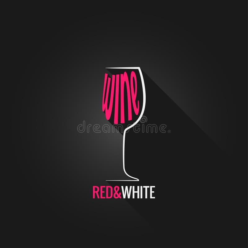 Fundo do projeto do vidro de vinho ilustração royalty free