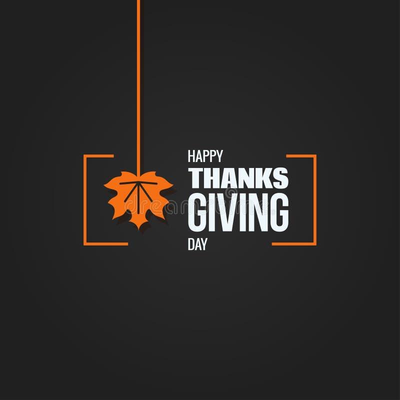 Fundo do projeto do logotipo do outono da ação de graças