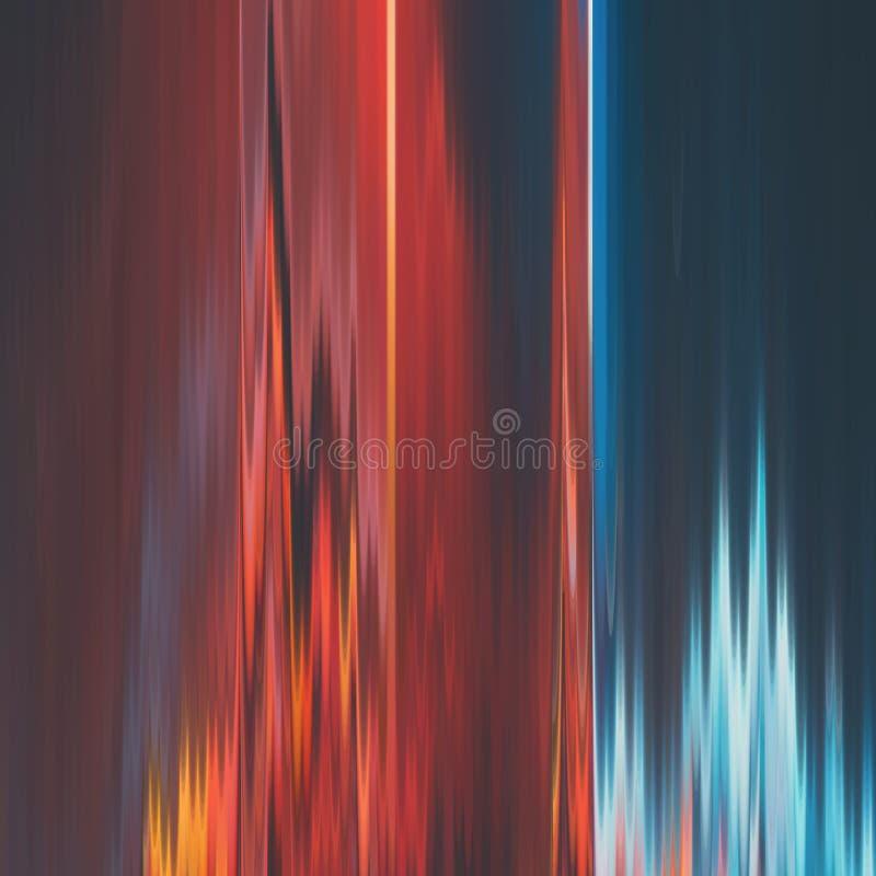 Fundo do pulso aleatório do vetor Distorção dos dados de imagem de Digitas Fundo abstrato colorido para seus projetos ilustração royalty free