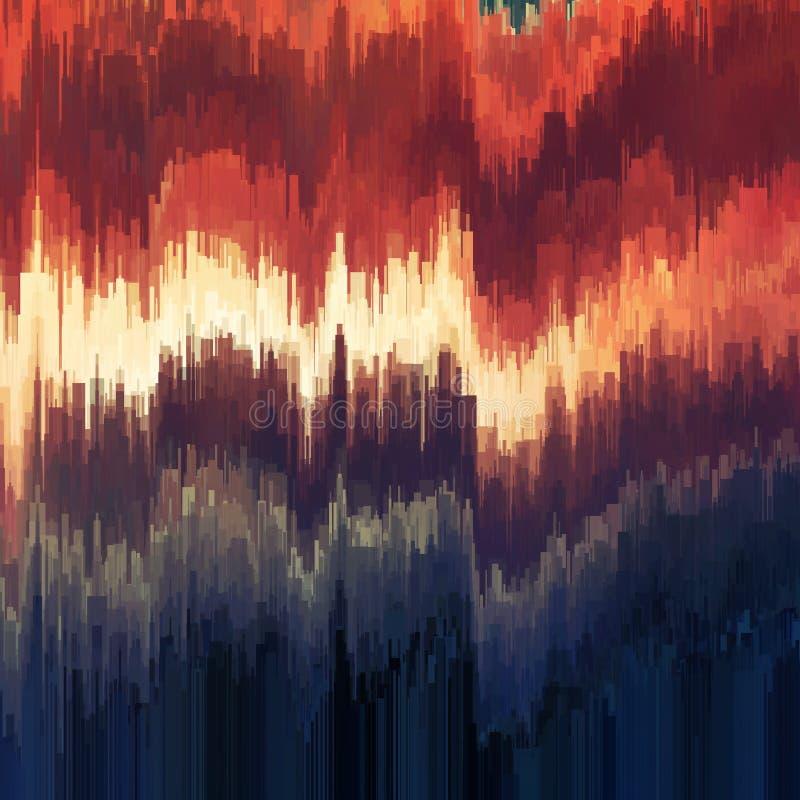 Fundo do pulso aleatório do vetor Distorção dos dados de imagem de Digitas Fundo abstrato colorido para seus projetos ilustração stock