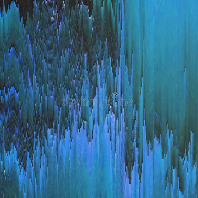 Fundo do pulso aleatório do vetor Distorção dos dados de imagem de Digitas Fundo abstrato colorido para seus projetos ilustração do vetor