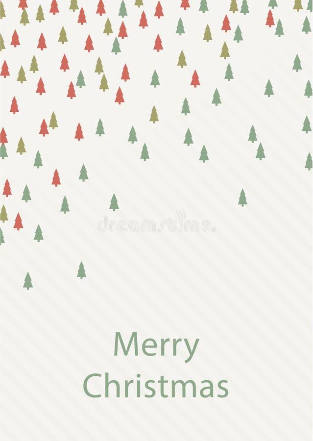Fundo do quadrado do Natal do vetor Coloridamente fundo - Chri ilustração royalty free