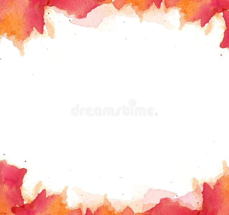 Fundo do quadro da aquarela, alta resolução da pintura da aquarela imagem de stock