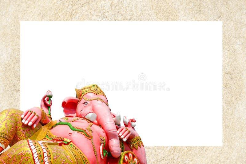Fundo do quadro da estátua de Ganesh imagens de stock royalty free