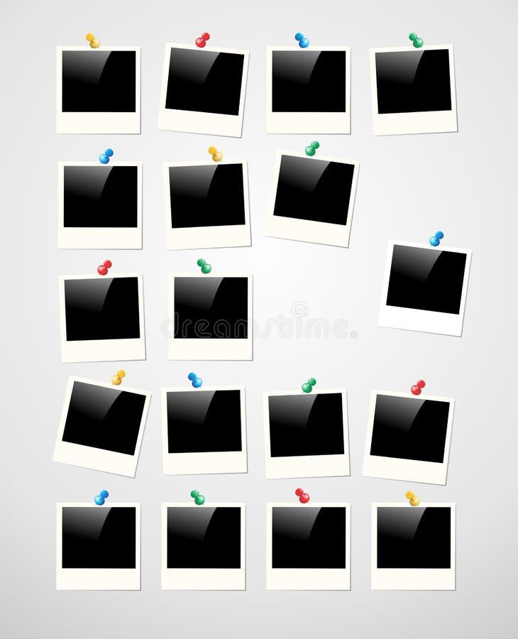 Fundo do quadro da foto do Polaroid ilustração do vetor