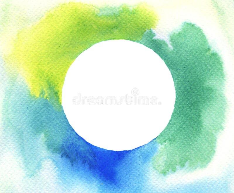 Fundo do quadro do círculo da aquarela ilustração do vetor