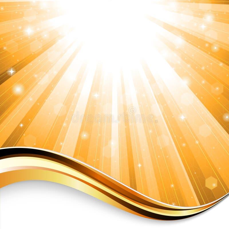 Fundo do raio de sol ilustração royalty free