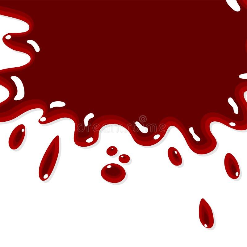 Fundo do respingo do sangue ilustração do vetor