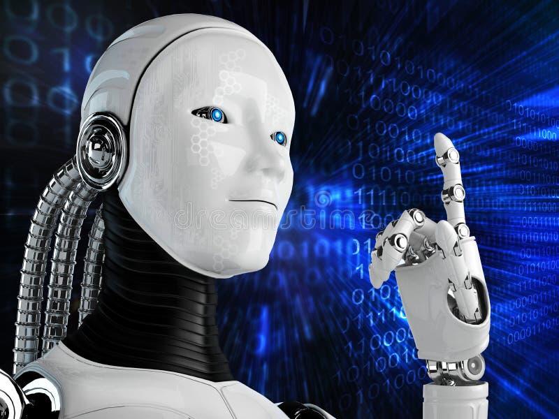 Fundo do robô do computador ilustração royalty free