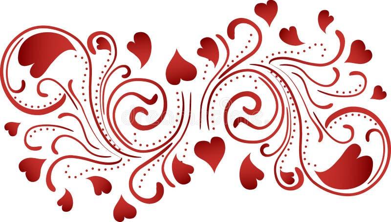Fundo do rolo do coração ilustração stock