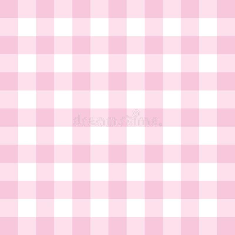 Fundo do rosa do vetor - teste padrão quadriculado da telha ou textura da grade ilustração do vetor