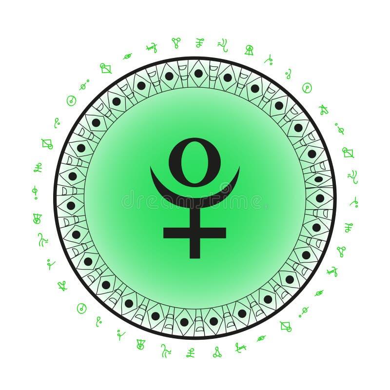 Fundo do símbolo do planeta do Plutão ilustração royalty free