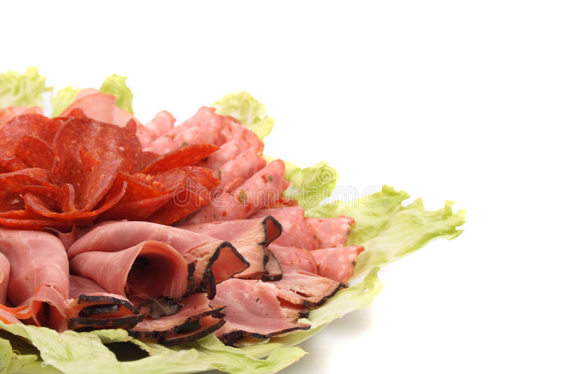 Fundo do Salami foto de stock royalty free