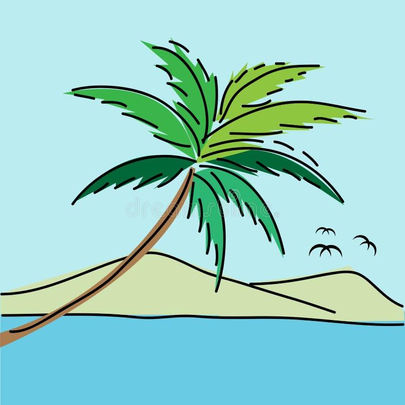 Fundo do seascape ilustração royalty free