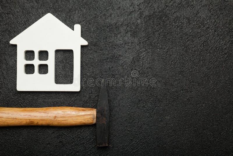 Fundo do serviço da casa, sondando acessórios Copie o espa?o para o texto fotos de stock royalty free