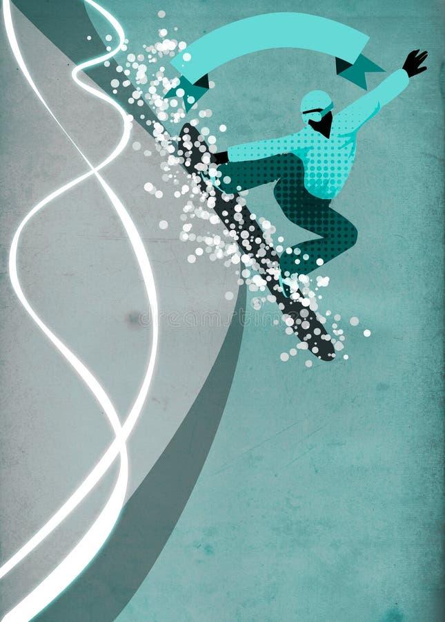 Fundo do Snowboard ilustração stock