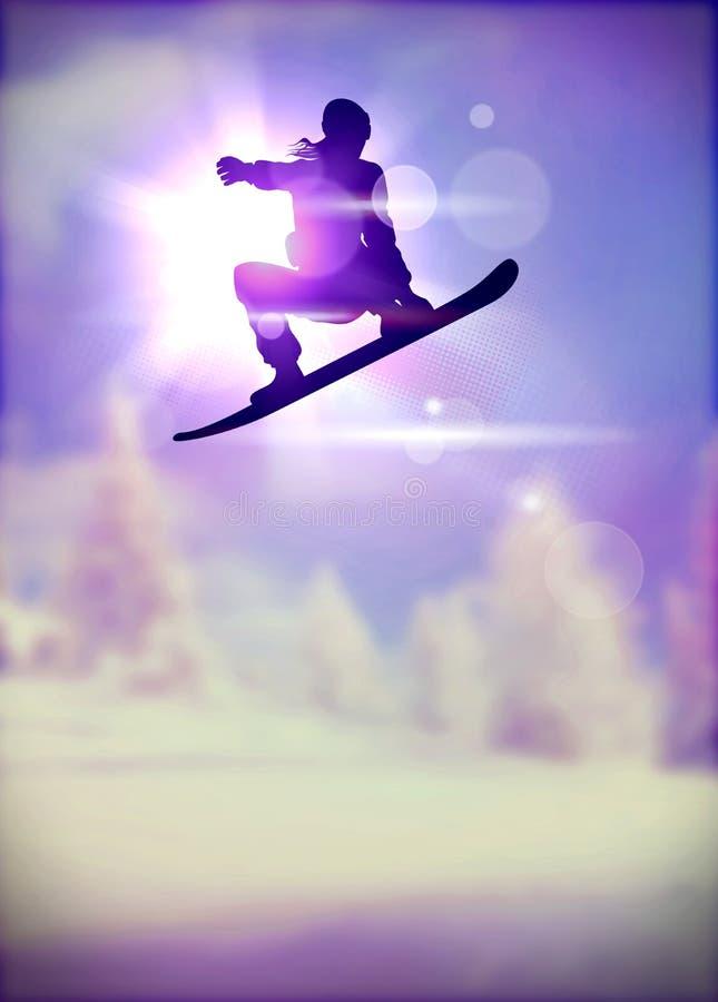 Fundo do Snowboard ilustração royalty free