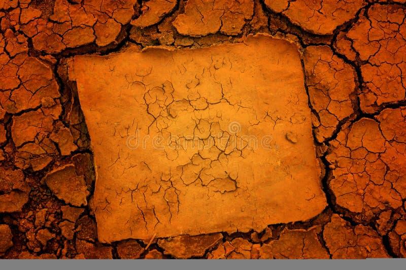 Fundo do solo seco ilustração do vetor