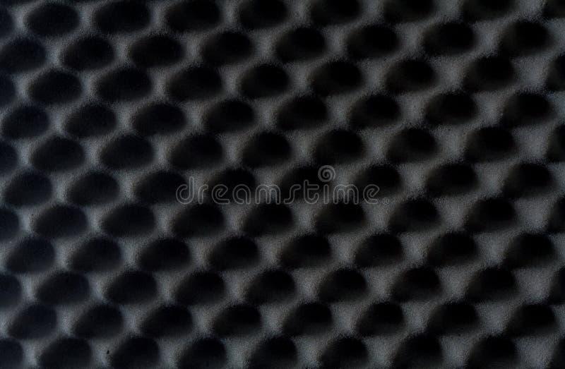 Fundo do som - esponja absorvente, insonorização da parede foto de stock