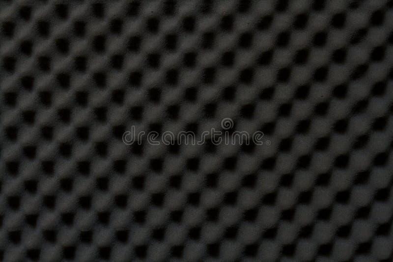 Fundo do som - esponja absorvente, insonorização da parede imagens de stock