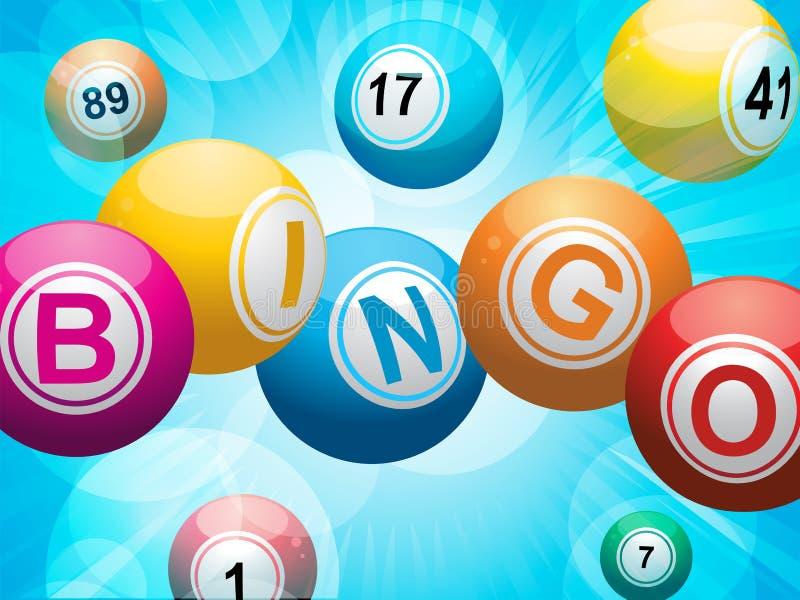 Fundo do starburst da esfera do Bingo ilustração do vetor