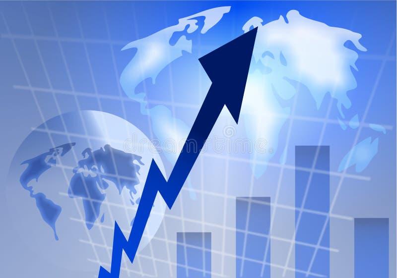 Fundo do stats do globo ilustração stock