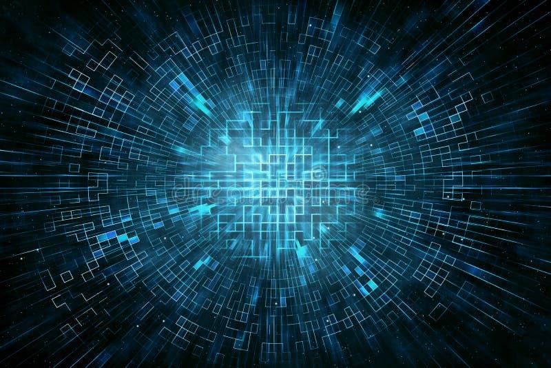 Fundo do sumário do círculo de Techno imagens de stock royalty free
