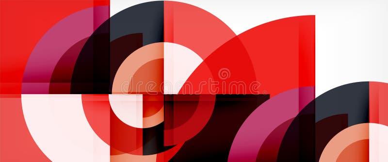 Fundo do sumário do círculo, molde geométrico do projeto moderno ilustração royalty free
