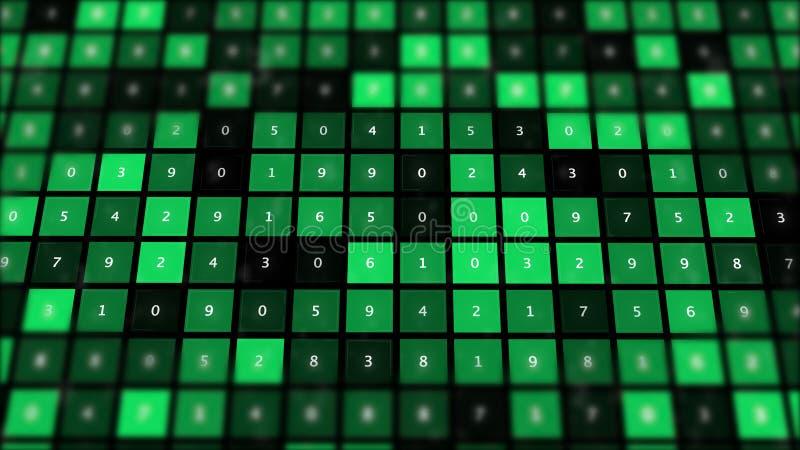 Fundo do sumário do conceito da matemática Sistema de dados ilustração stock