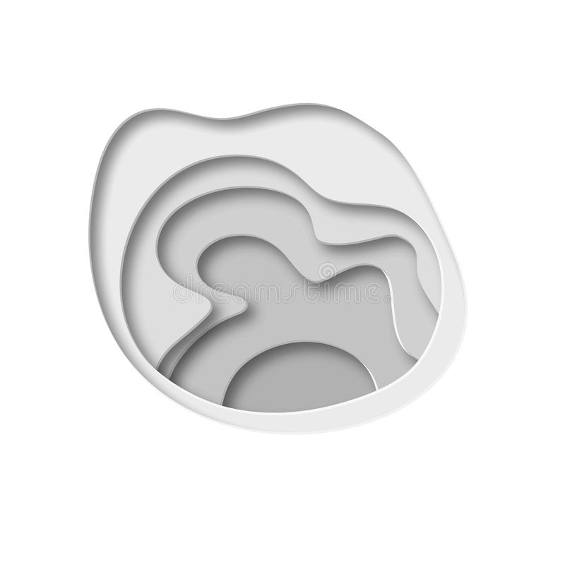 fundo do sumário 3D com formas do corte do papel Vector a disposição de projeto para apresentações do negócio, insetos, cartazes ilustração royalty free