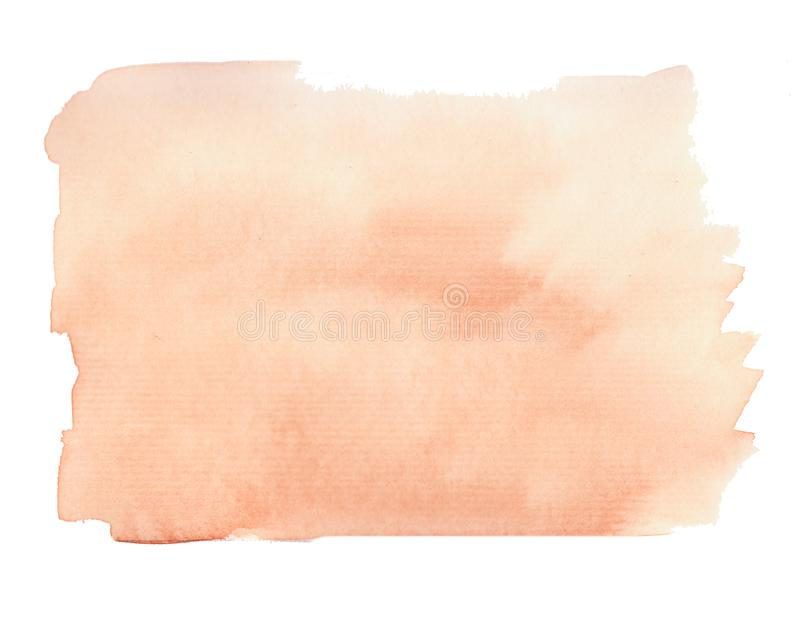 Fundo do sum?rio da aquarela em cores marrons e alaranjadas foto de stock royalty free