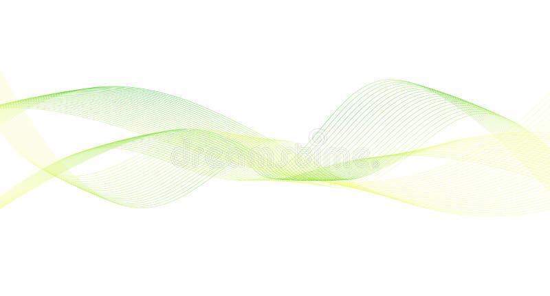 Fundo do sumário da curva da onda ilustração do vetor