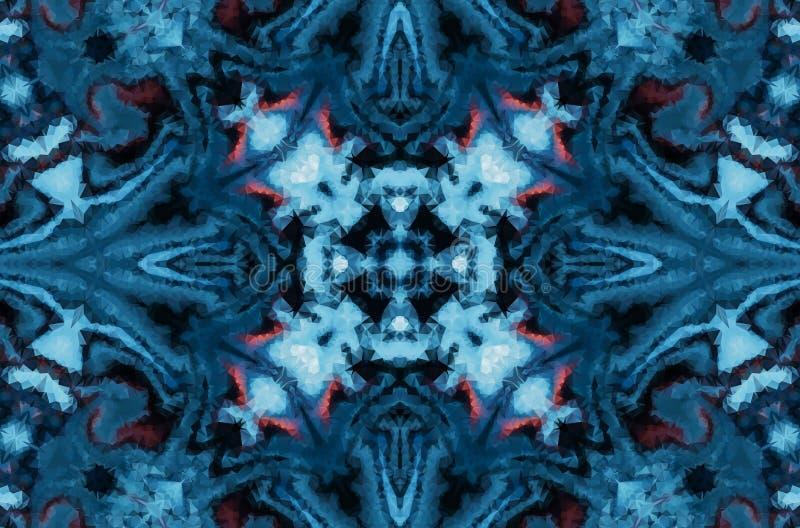 Fundo do sumário da fantasia do inverno Ornamento geométrico calidoscópico Teste padrão de mosaico poligonal decorativo ilustração stock