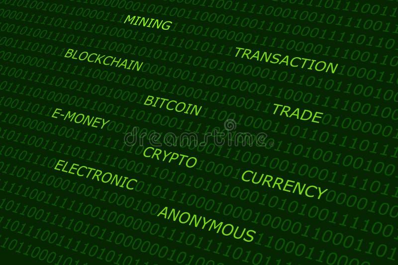 Fundo do sumário de Bitcoin foto de stock
